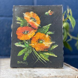 Vintage Original Floral Art Painting